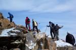 High mountains treking group